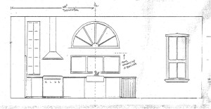 kitchen plan showing new windows