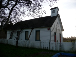 Schoolhouse with cupola, Sonoma County, CA