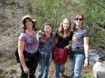 Melanie, Sally, Linnea, and Beth hiking