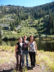 Sally, Melanie, and Beth at Adams Lake