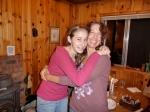 Linnea and Melanie hugging