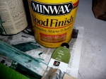 Miniwax oil based stain can be tinted with oil paint