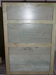 18 inch drawer base, stained