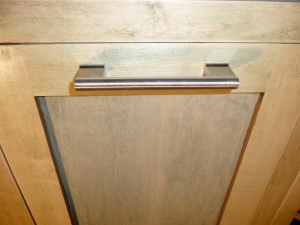 Pull out garbage cabinet with Ikea handle