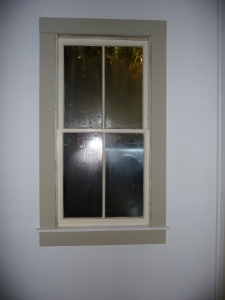 Repaired window with new frame