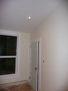 Corner of master bedroom showing paint treatment