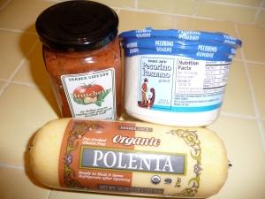 Polenta, bruschetta, and parmesan