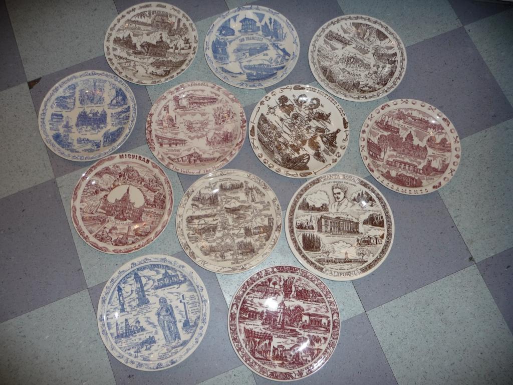 Vernon Kilns plates of the states