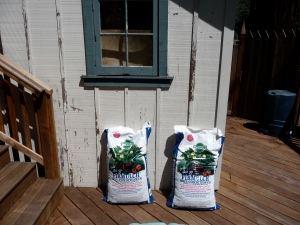 Bags of potting soil